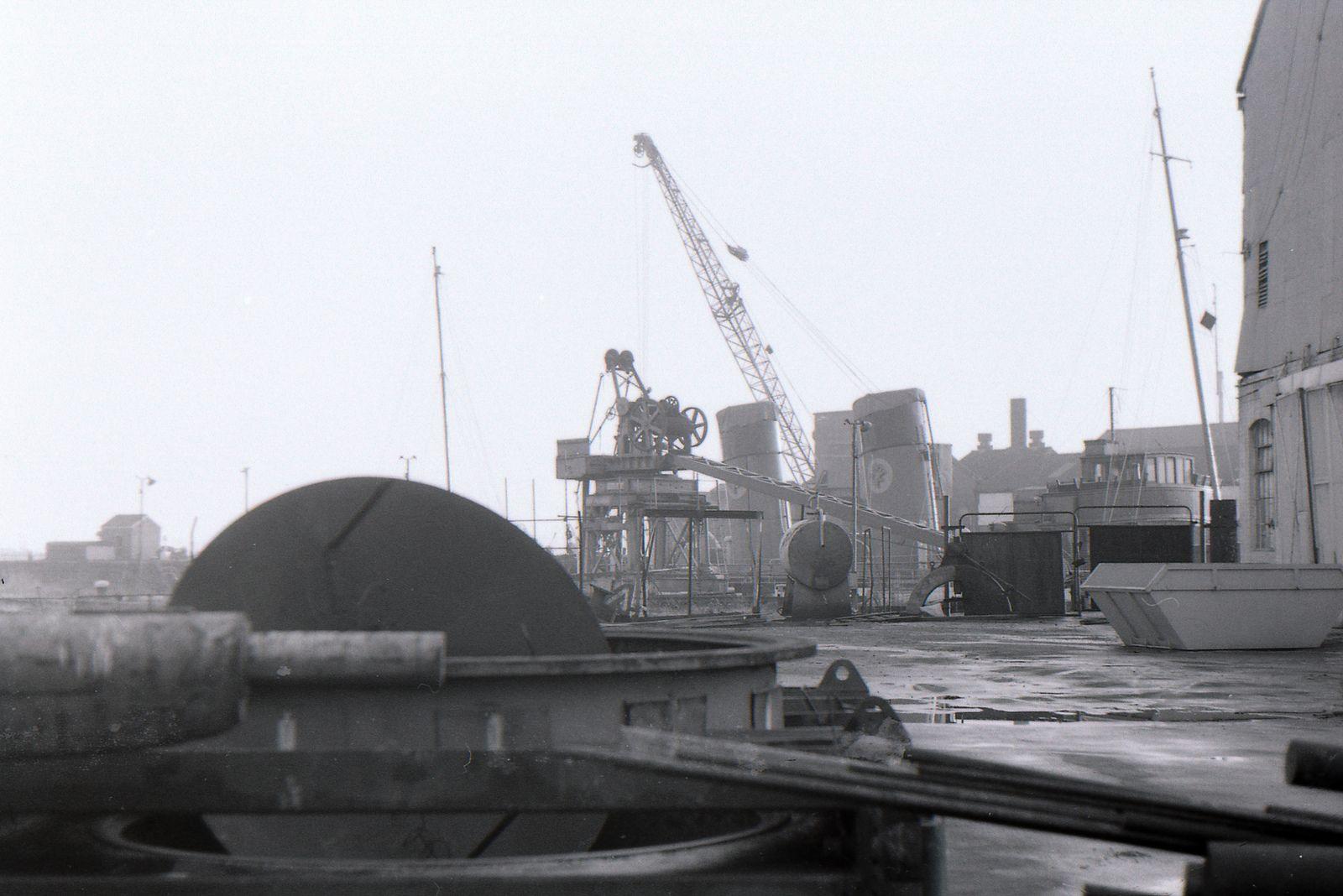 Cardiff Docks Nov 1975 Cardiff, South wales, Dock