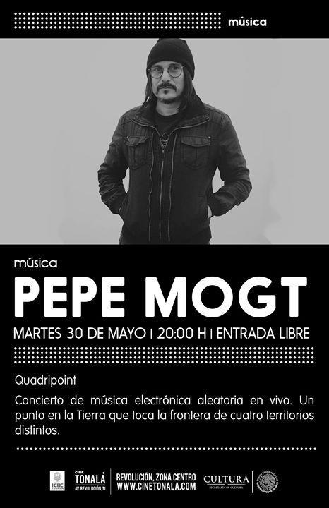 Pepe Mogt miembro actual de Nortec Collective llega al Cine Tonalá Tijuana en colaboración con el #ICBCTijuana  HOY  8pm  #GRATIS