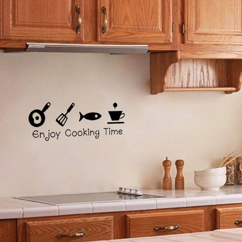Kitchen Enjoy Cooking Time Wall Sticker Price 6 99 Free Shipping Wallsticker Rumah Indah Rumah Dekorasi