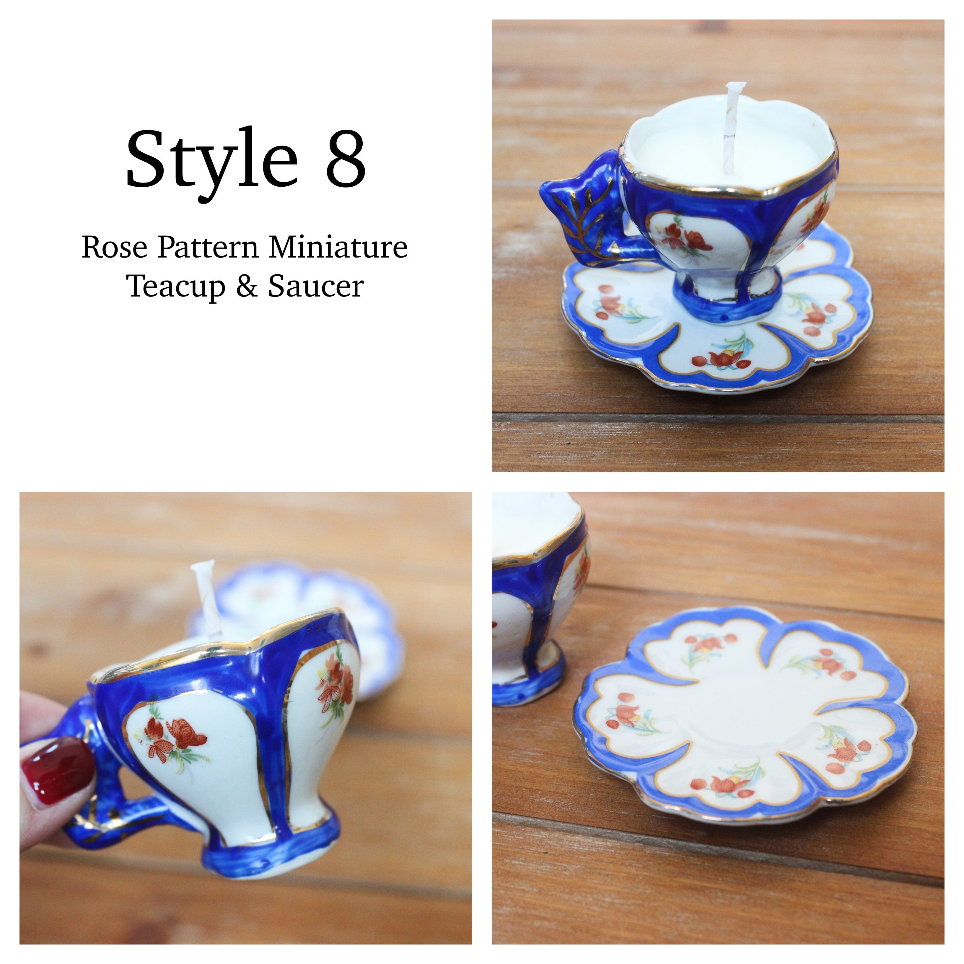 Photo of Vintage Teacup Candles, Lavender & Rosemary Soy Candles – Style 3