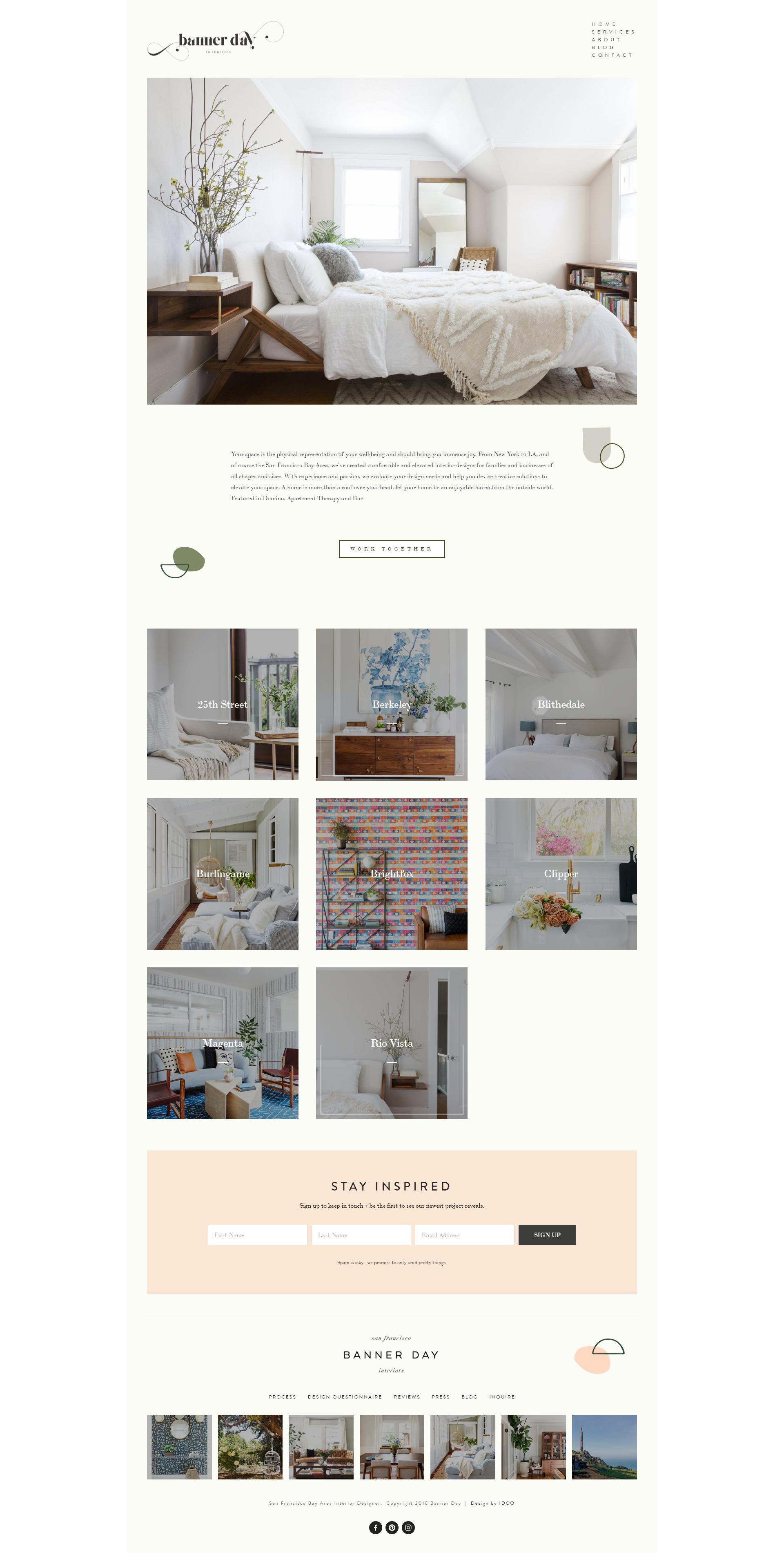 The Identite Collective Branding Web Design And Content Creation For Interior Designers And Lifestyle Brands B Web Design Company Web Design Design Company