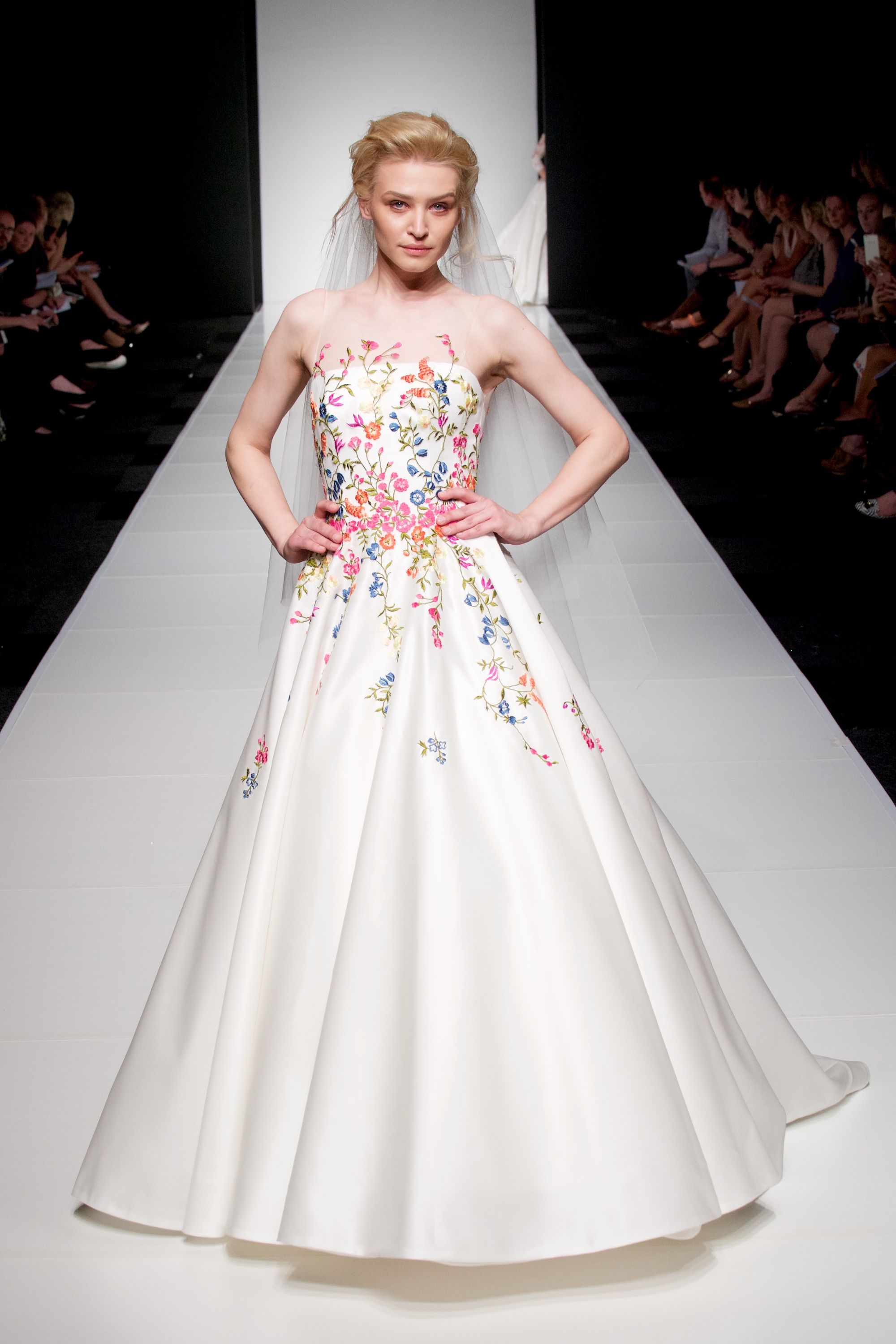 Sassi Holford Blossom Quirky wedding dress, Embroidered