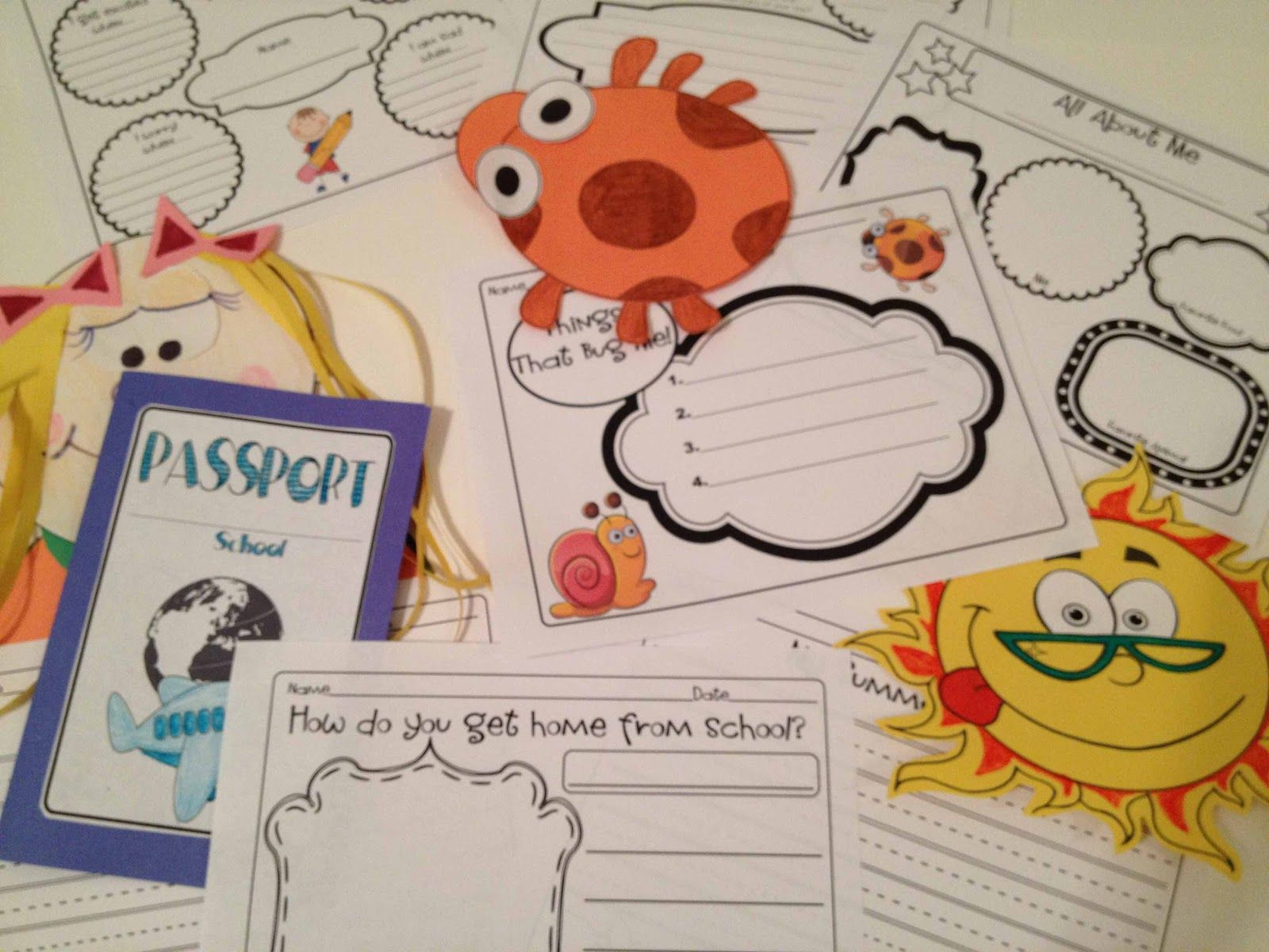 All About Me First Week Of School Activities First Day Jitters Freebie