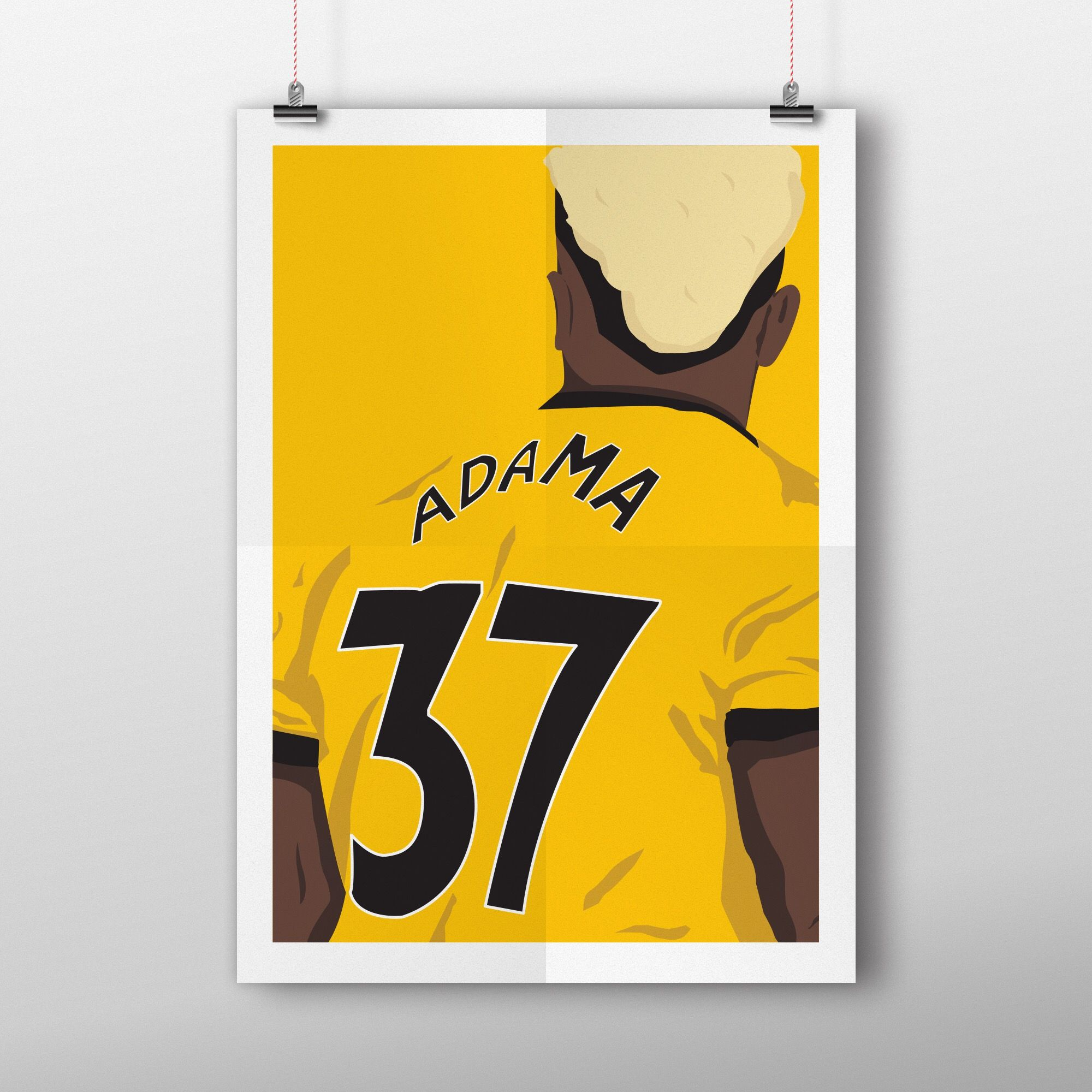 Wolves Player Adama Traore Vector Illustration Football Illustration Illustration Vector Illustration