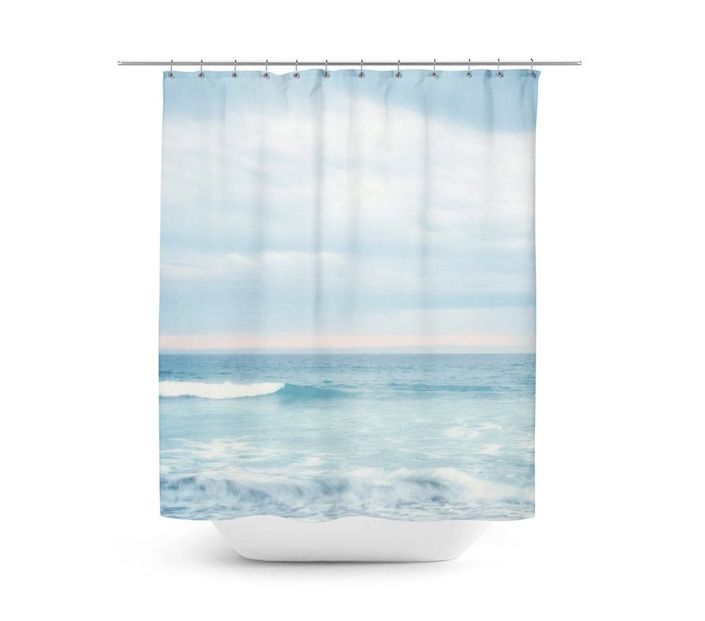 Ocean shower curtain - Blue Ocean Shower Curtain