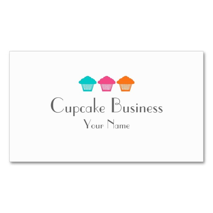 Simple colorful cupcakes bakery business cards simple colorful cupcakes bakery business cards make your own business card with this great design reheart Choice Image