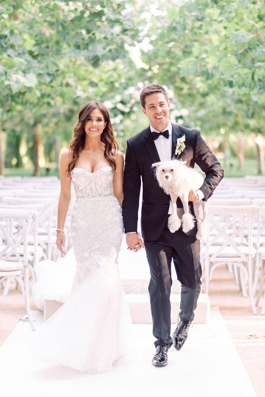 Natural Glam Celebrity Wedding In Santa Barbara Wedding Dresses