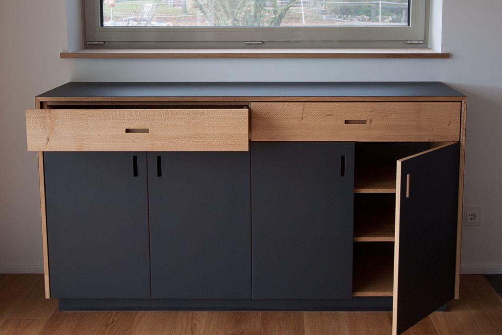 Anrichte In Eiche Und Möbellinoleum Möbel Möbel Holz Eiche