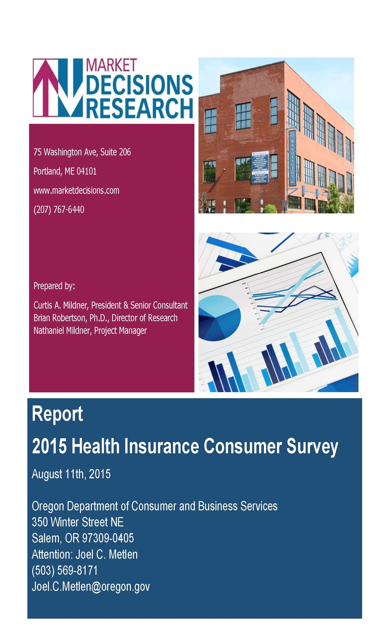 Report 2015 health insurance consumer survey, by the