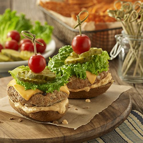 Photo of Grilled Open Faced Chipotle Cheddar Turkey Burgers-Grilled O…