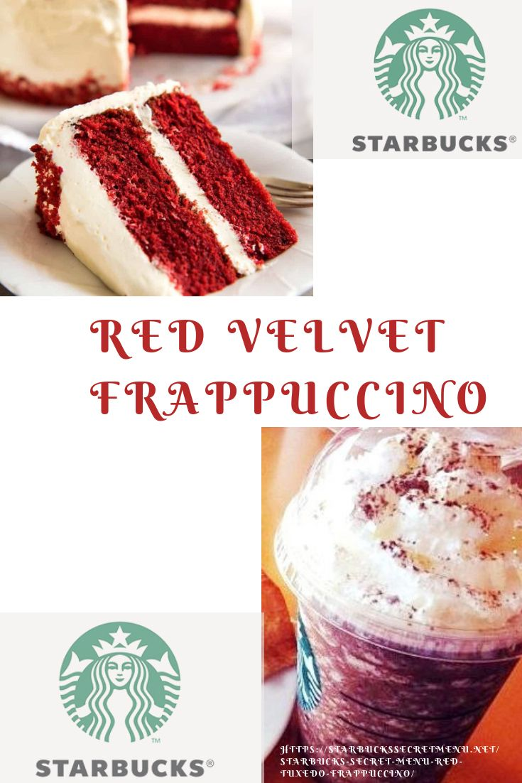 Starbucks Red Velvet Frappuccino In 2019 Drink Up