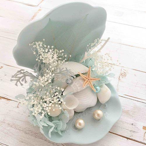 リングピロー マーメイド 完成品 商品画像1 結婚式演出の手作りアイテム専門店b G Weddingrings Ring Pillow Wedding Seashell Crafts Beach Wedding Centerpieces