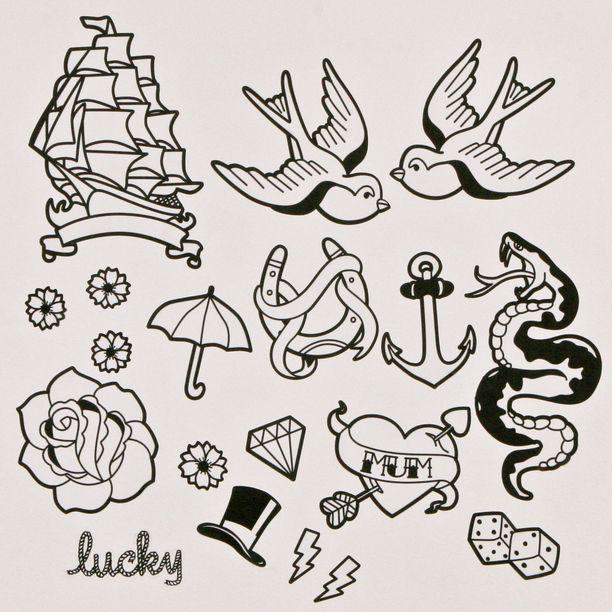 Classic Tat Flash Flash Tattoo Traditional Tattoo Tattoo Stencils