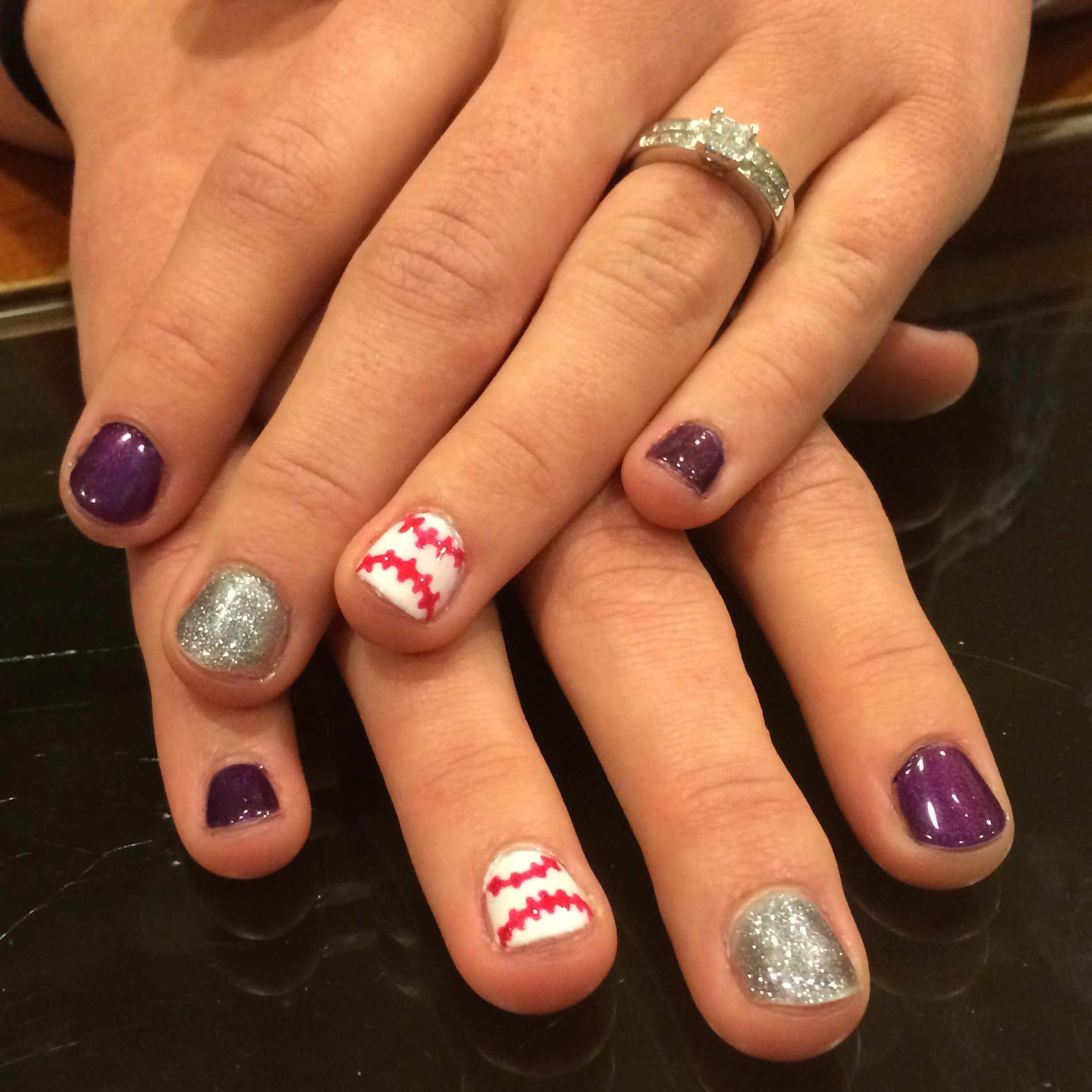 Colorado Rockies baseball nails | Hair, Nails, Shoes <3 | Pinterest ...
