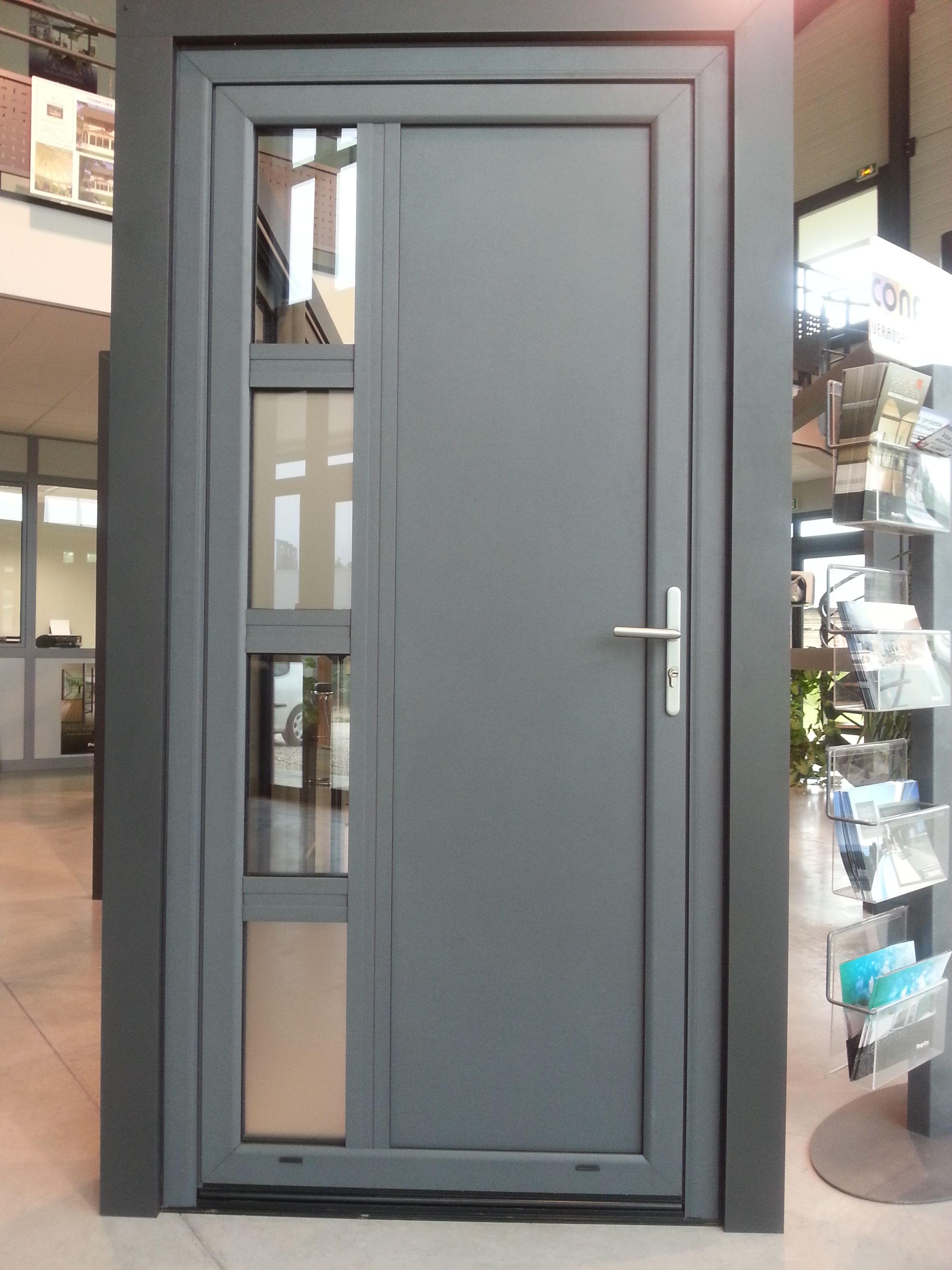 Jolie Porte D Entree Aluminium Ton Gris De Chez Confort Loisirs