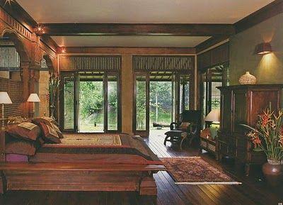 joglo home modern javanese   interior, rumah, rumah impian