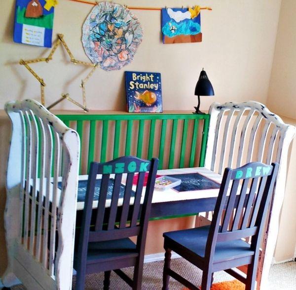 altes holz kinderbett ideen recycling kinderzimmer schreibtisch, Schlafzimmer