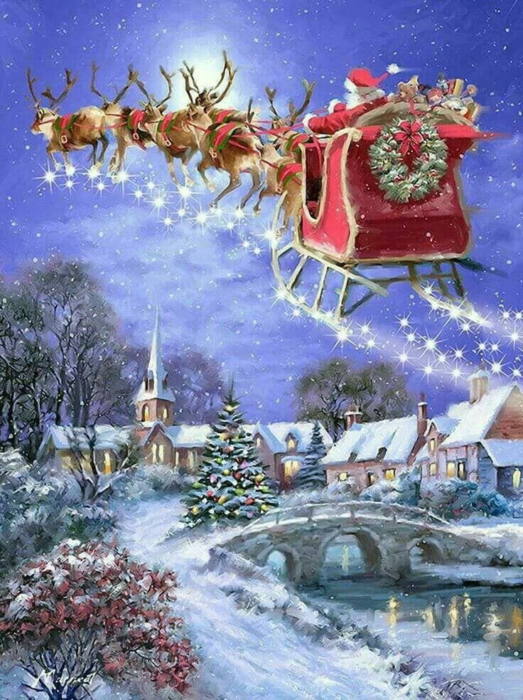 Sleigh Ride | Christmas Snowflakes @ Santa | Pinterest | Weihnachten ...