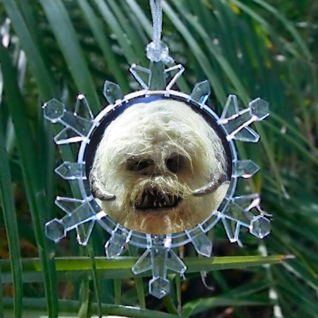Star wars ice planet hoth wampa snowflake blinking light holiday