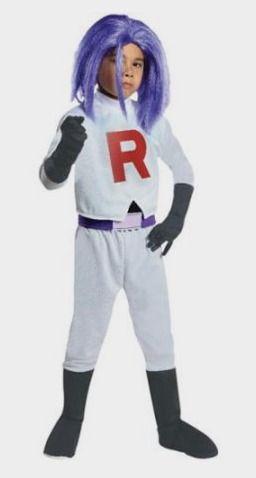 pokmon james team rocket halloween costume child large walmart - Walmart Costumes Halloween Kids