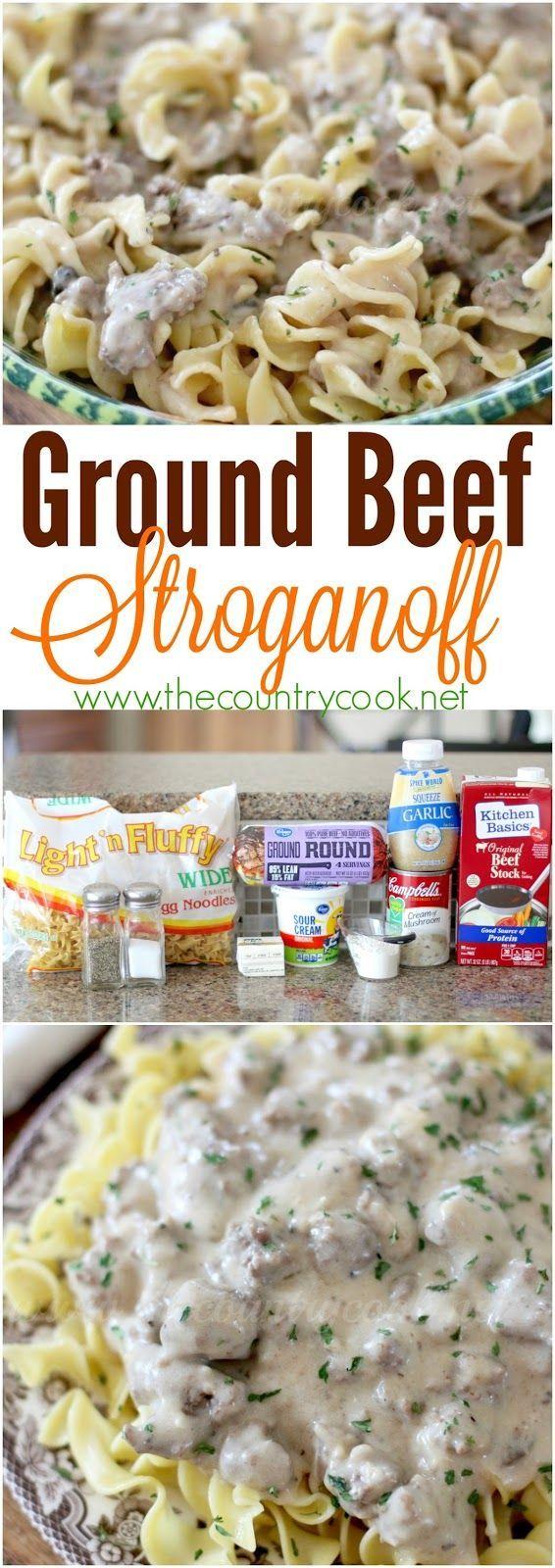 Ground Beef Stroganoff Recipe Casanova Of Casserole Food Food Recipes Stroganoff Recipe