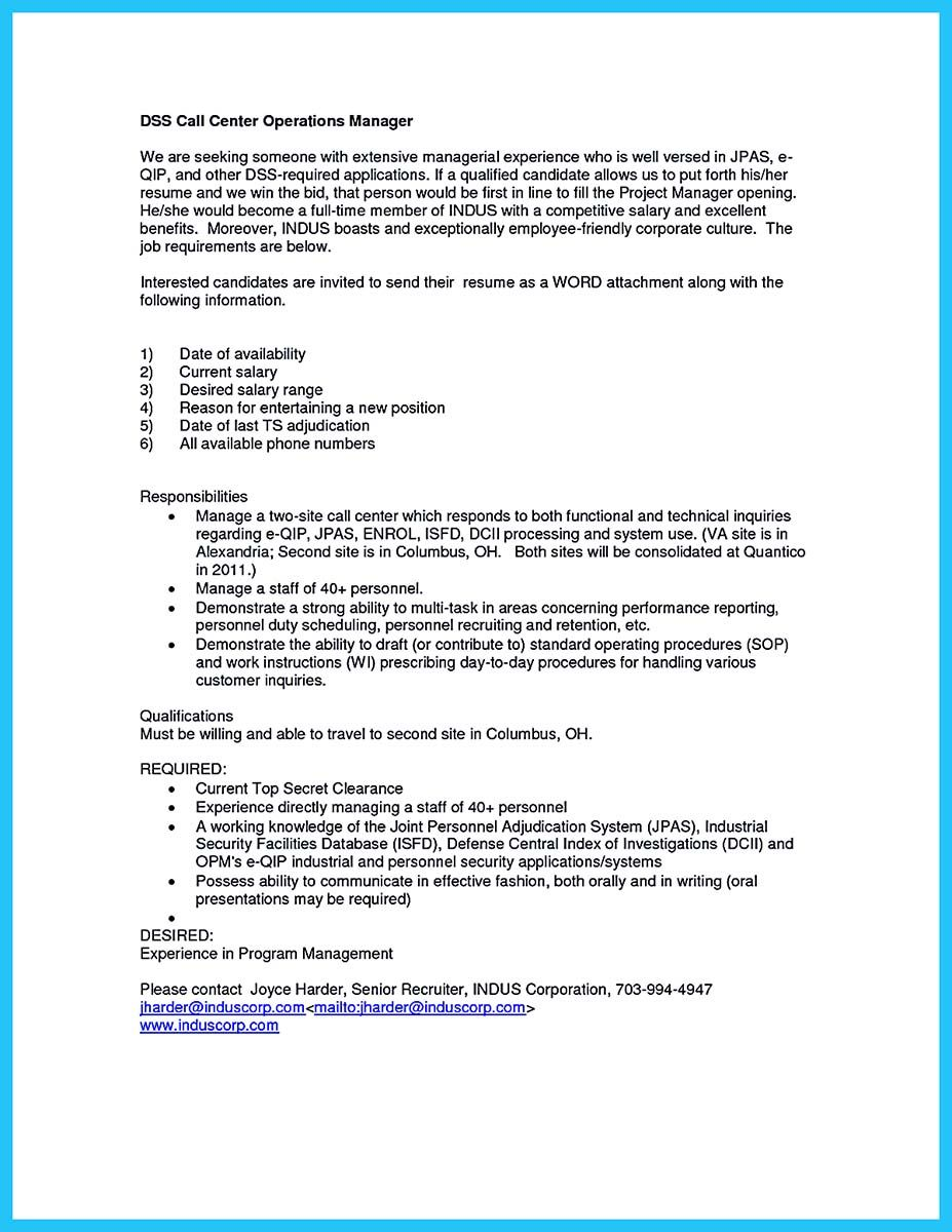 awesome Create Charming Call Center Supervisor Resume with