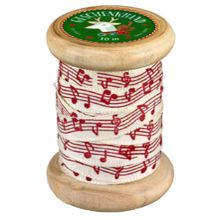 Geschenkband auf Holzspule Weihnachtszauber