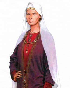 Assez Wisigarde de Lombardie (morte en 553) - Fille du roi Wacchon Ier  DL51
