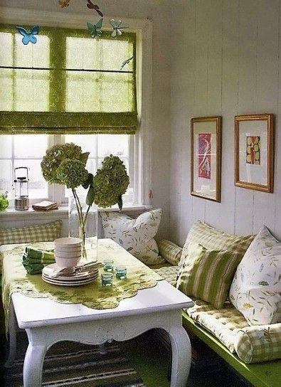 Arredare Casa Con Il Verde Kitchen Nook Arredamento Casa