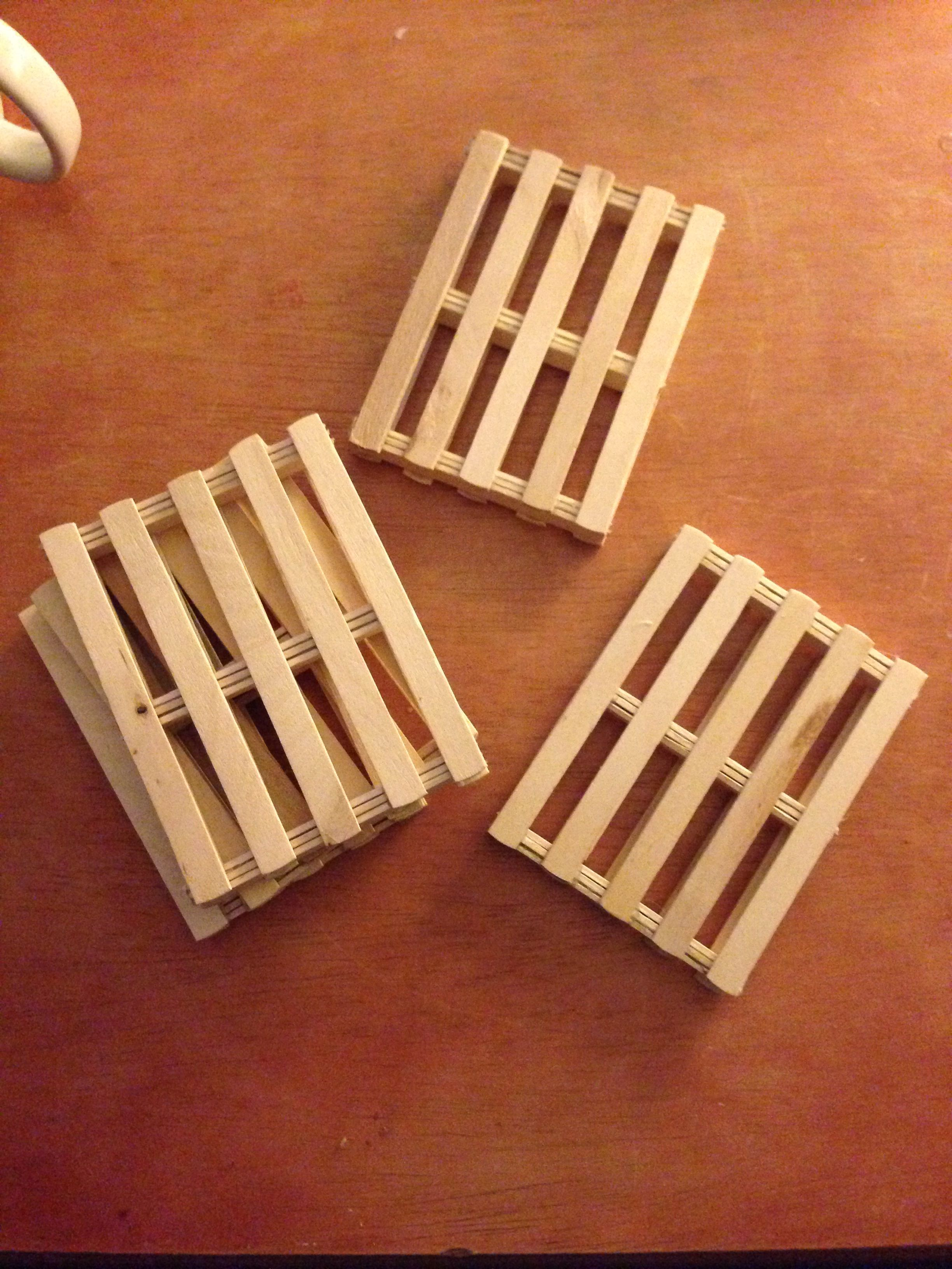 Popsicle Stick Pallet Coasters Diy Gift Wrap Box