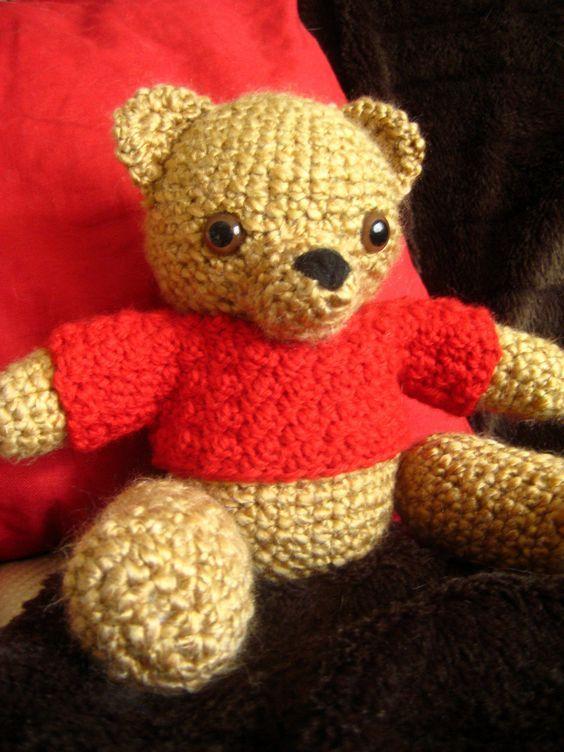 Free Teddy Bear Crochet Pattern Looks Like Classic Winnie The Pooh