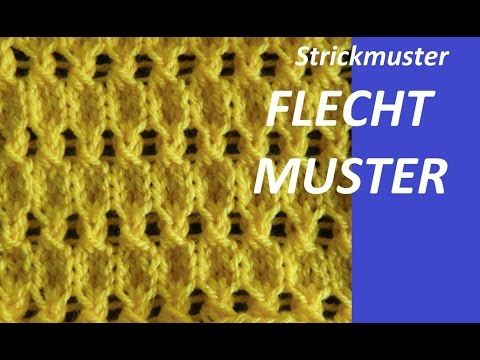 Stricken mit eliZZZa * Strickmuster Waffelmuster - YouTube ...
