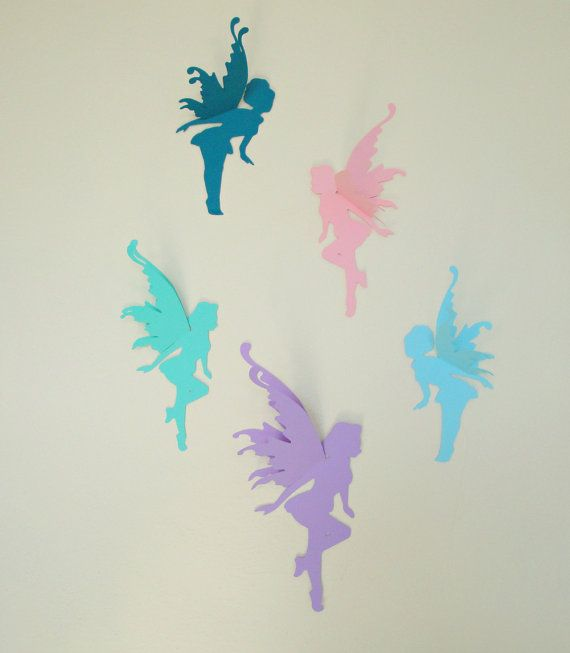 Fairy Wall Art 3d fairy wall art-wall decals-wall decor | decor, fairies and etsy