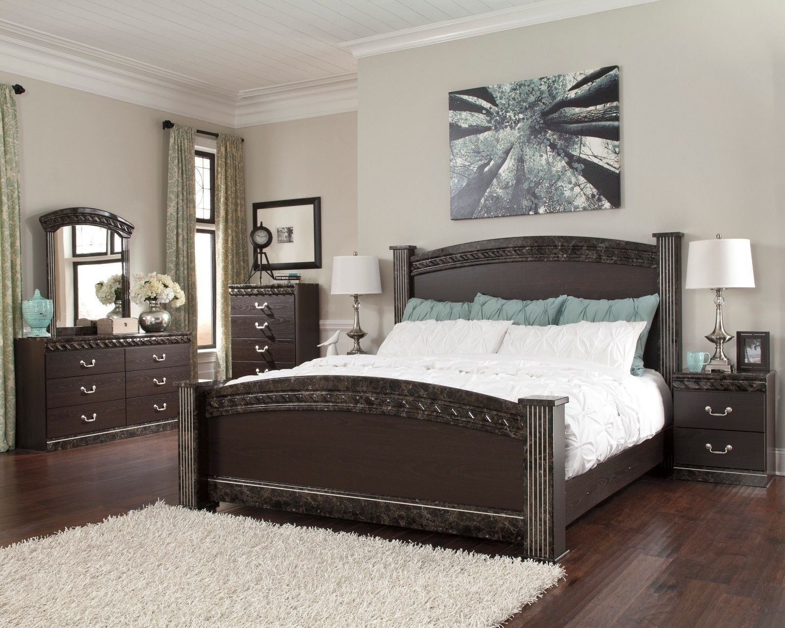 Ashley Furniture Vachel 7 Piece Queen Bedroom Set Furniture B264