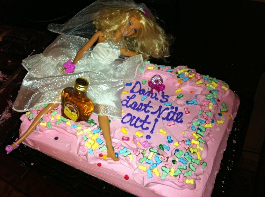 Bachelorette Party Cake Drunk Barbie Wins All