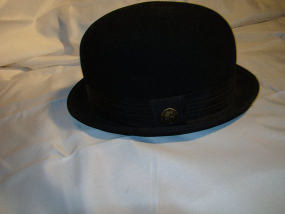73de900b93904 vintage Men s WOOL BOWLER hat pristine near mint condition by Goorin  Brothers since 1895 steampunk