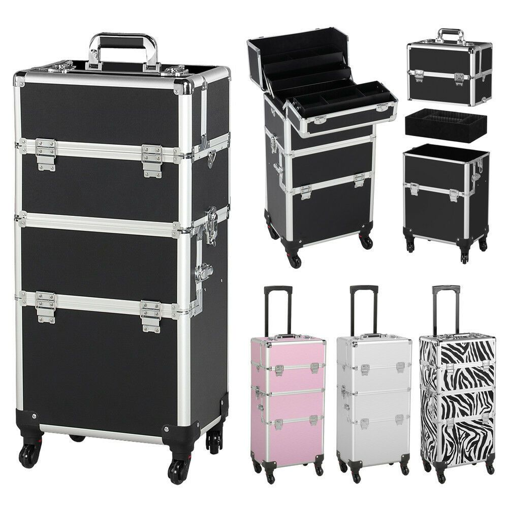 Professional Rolling Artist Train Nail Case Makeup