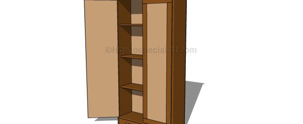 How To Build An Armoire Wardrobe | HowToSpecialist   How To Build, Step By  Step