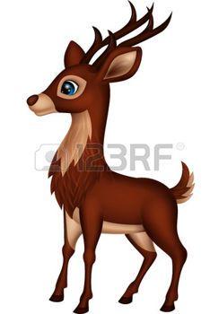 Cute deer cartoon Vector  Insp Art  Animals  Pinterest  Deer