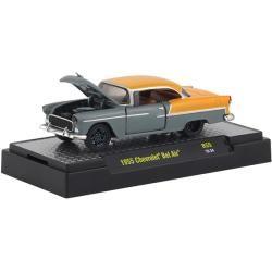 M2 Machines 32500-R55-24 Chevrolet Bel Air grau/gelb Maßstab 1:64