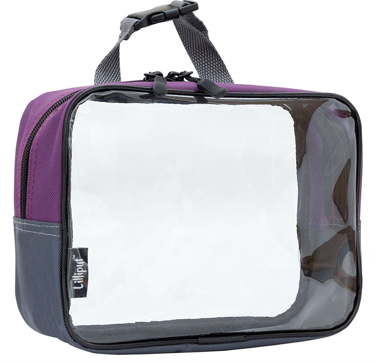 8X6X3 Lilliput Clear Travel Toiletry Bag, Carry On Cosmetic Bag,