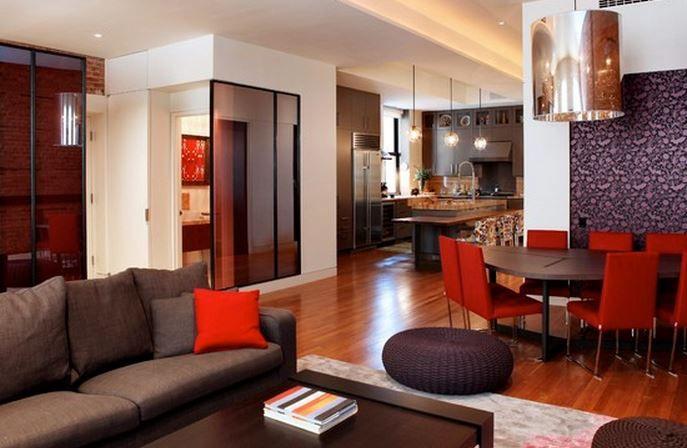 déco moderne deco salon moderne marron - Deco Maison Moderne