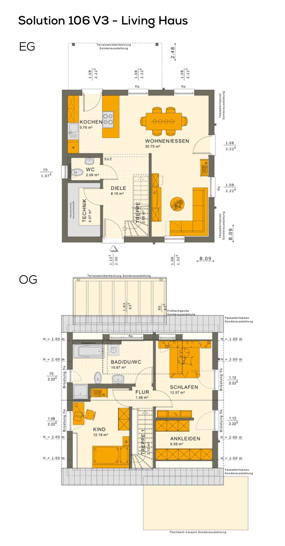 Grundriss Einfamilienhaus Mit Satteldach Architektur Gaube 3
