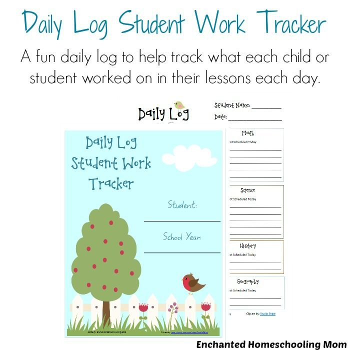 Daily Log Student Work Tracker | Student work, Logs and Students