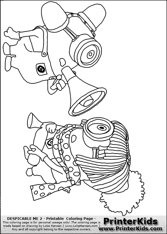 despicable me 2 - minions #27 bee boo bee boo - coloring page ... - Despicable Coloring Pages Dave