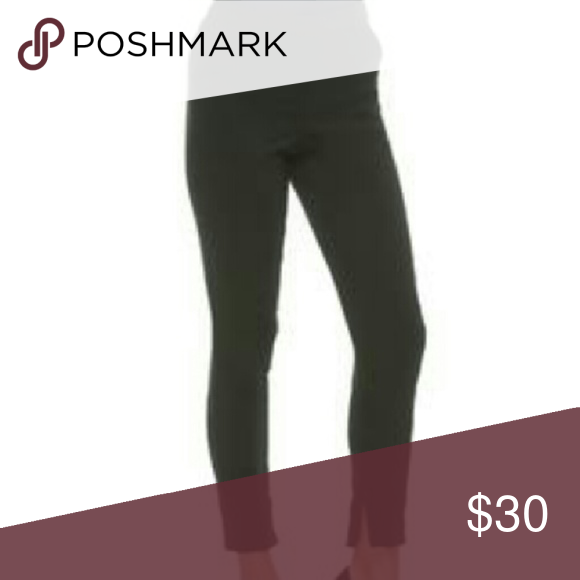 Black High Waisted Trouser Tapered skinny leg. Tailored look.  A contour-sculpting design creates a streamlined silhouette for these women's tapered trousers from Kardashian Kollection. Woven with stretch for flexible comfort, these pants are topped with a high waist, perfect for pairing with a crop top and showing a sliver of skin.  Zip fly  Double bar and hook closure Belt loops  Sits at natural waist Inseam pockets  Rear welt pockets Hidden inseam zip ankles  Woven construction Fabric…