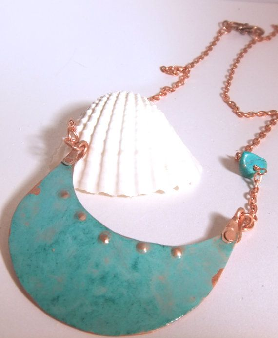 Statement Copper with Vertrigris Green Patina by CherieLongDesigns, $40.00