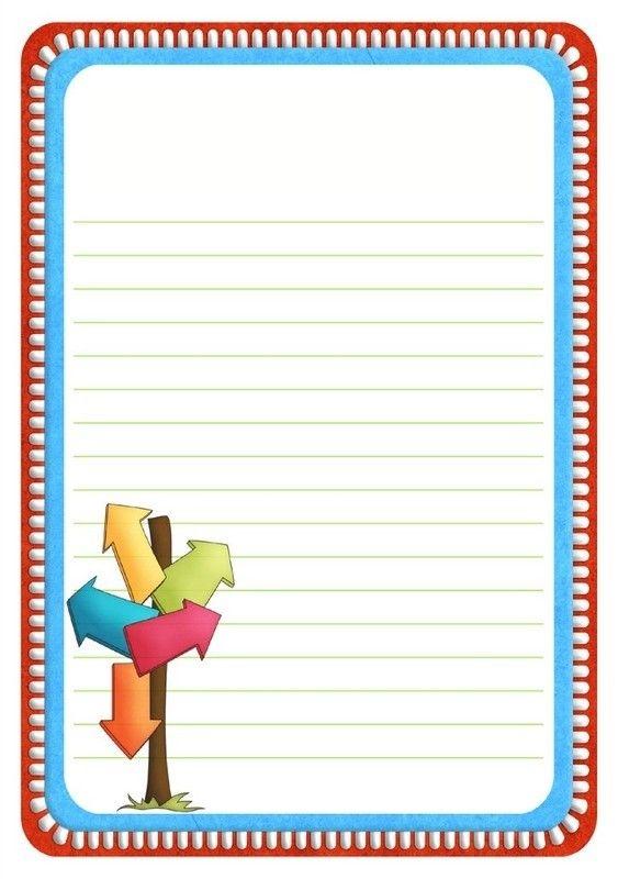 Papier A Lettre Papier A Lettre Bordures De Page Lettre A
