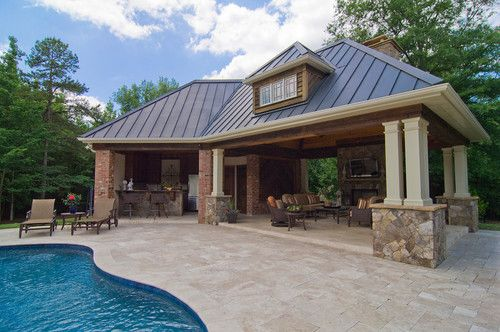 Pool Houses And Cabanas Design Ideas Pictures Remodel And Decor Pool House Plans Pool House Designs Pool Houses