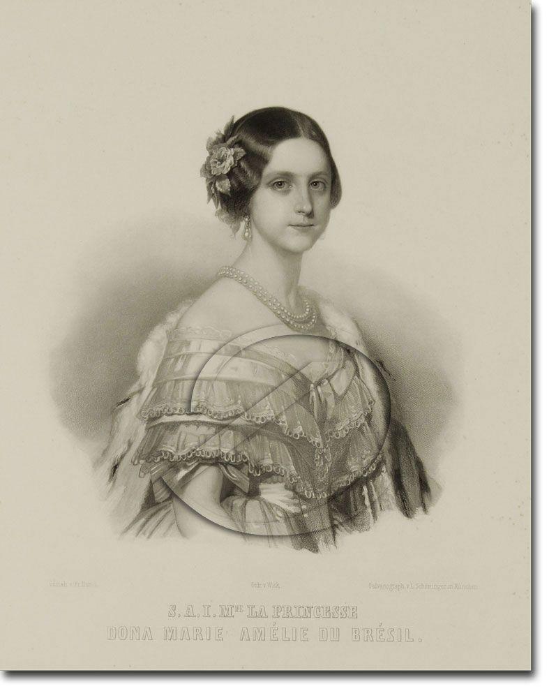Princesa Maria Amélia de Bragança filha da Imperatriz Amélia e D.Pedro I